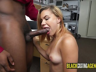 Massive black getting sucked by arousing girl