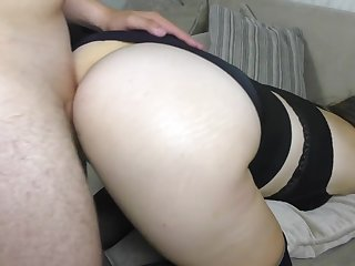 Big Botheration Schoolgirl has sex hither Stockings