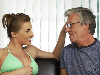Fit domineer babe fucks her boyfriend's stepdad without feeling any disapproval